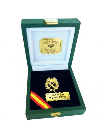 Pin Oro de Ley y Brillantes 'Haz de Lictores'