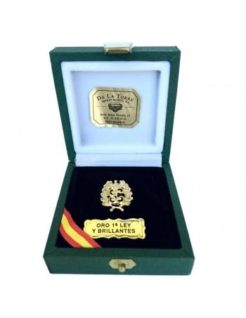 Pin Oro de Ley y Brillantes 'GC'
